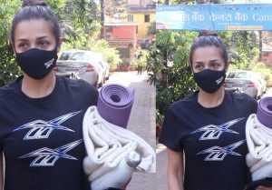 Malaika Arora spotted at Diva Yoga Bandra