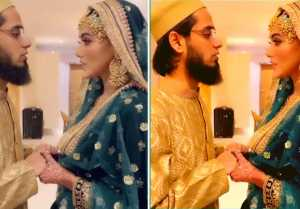 Sana khan recites Ayatul Kursi and Praying for Mufti Anas after Wedding