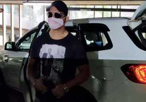 Sharad Kelkar spotted at Mumbai airport