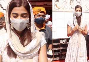 Pooja Hegde Snapped at Gurudwara In Santacruz