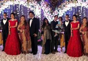 Aditya Narayan Reception was seen in this look with family