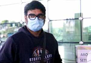 Bollywood actor R Madhavan Spotted at Airport