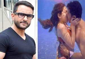 Papa Saif's reaction on Sara and Varun's underwater kiss in Coolie No.1