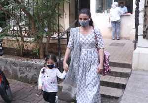 Soha Ali Khan spotted with daughter Inaaya Naumi Kemmu; Watch video
