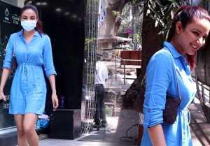 Jasmin Bhasin snapped at Diamond Store at Bandra