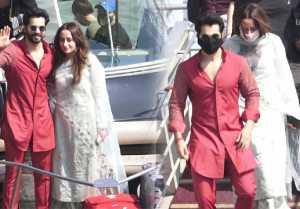Varun Dhawan & Natasha Dalal seen first time after marriage