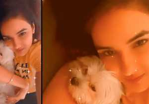 Bigg Boss 14; Jasmin Bhasin shares moments with her dog before her Re-entry