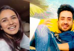 Bigg Boss 14; Jasmin Bhasin gets happy after seeing Aly Goni in her favorite T shirt
