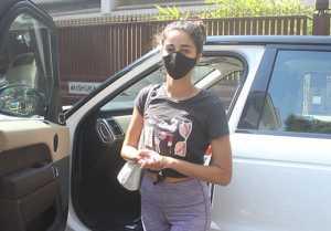 Ananya Panday spotted at Anshukya Yoga Bandra