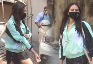 Sara Ali Khan spotted after Pilates & gym session at Santacruz