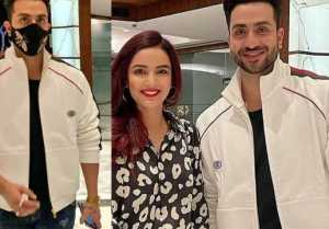 Aly Goni wore Jasmin Bhasin's gifted jacket at his birthday party
