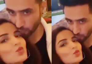Jasmin Bhasin & Aly Goni KISS each other during birthday party; Watch video