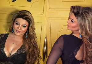 Rakhi Sawant poses outside toilet in a Bigg Boss contestant get together