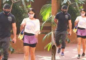 Bollywood actress Sara Ali Khan Snapped at Gym Bandra