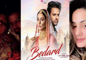 Hina Khan turns bride for first poster of music video Bedard ;Check out