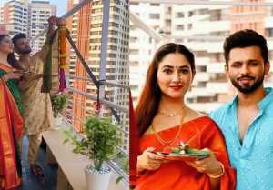 Rahul Vaidya, Disha Parmar's husband wife look on Gudi Padwa goes viral