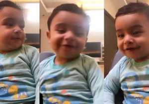 Aly Goni's Nephew talks to his cute voice ; Watch video