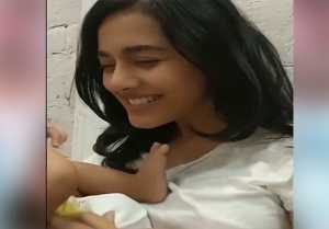 Amrita Rao enjoys playing with her Baby boy; Watch Video