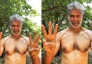 Fitness Freak Milind Soman has done this with his 3 Fingers, Video Went Viral