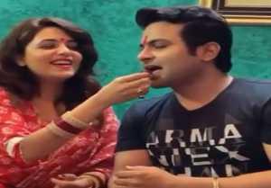 Sugandha Mishra celebrates Sanket Bhosale's birthday just after marriage ;Watch video