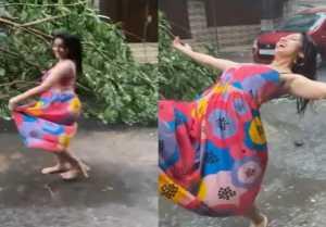Deepika Singh dancing in rain during Tauktae Cyclone goes viral