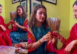 Yami Gautam's sister Surilie Gautam makes her wear Bridal Chuda