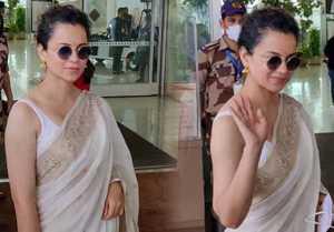 Bollywood Actress Kangana Ranaut Spotted at Mumbai Airport