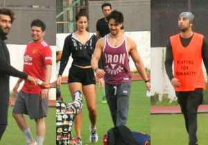 Tiger, Disha join Ranbir Kapoor, Arjun Kapoor & Ibrahim Ali Khan for Sunday football