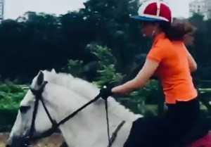 Kangana Ranaut shares a horse riding Video