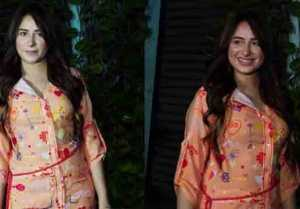 Mahira Sharma Spotted in a Glam Look Outside For Magazine Shoot