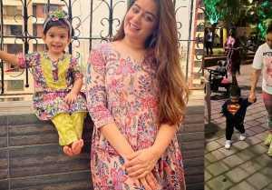 Maahi Vij, Jay daughter Tara's Cute video in Superman Dress goes Viral