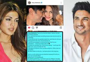 Rhea Chakraborty drops a cryptic post ahead of Sushant Singh Rajput's first death anniversary