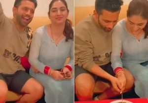 Rahul Vaidya and Disha Parmar Celebrates One Week of Wedding,Viral Video