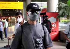 Shahid Kapoor spotted at airport with his new look