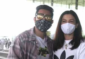 Gauhar Khan and Zaid Darbar spotted together at Mumbai airport