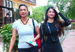 Shweta Tiwari with Daughter Palak spotted at Gym in Lokhandwala