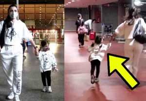 Soha Ali Khan with her daughter Inaaya Naumi Kemmu  spotted at airport; Watch video