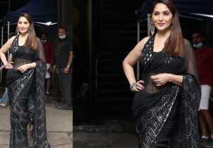 Madhuri Dixit Spotted at Dance Deewane Set in Goregaon Mumbai