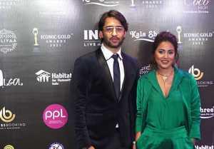 Hina Khan & Shaheer Sheikh look perfect together at Prestigious 2nd Iconic Gold awards