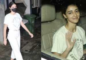 Bollywood Actress Ananya Pandey Spotted at Dubbing Studion In Bandra