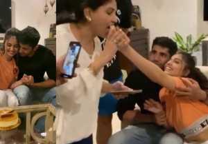 Bigg Boss OTT Winner : Divya Agarwal celebrates her winning with Boyfriend