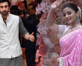 Ranbir Kapoor &  Alia Bhatt  reach Separately at Akash Ambani Shloka pre engagement party