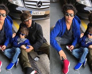 Shahrukh Khan ENJOYS with Son Aryan Khan & Abram Khan at Barcelona