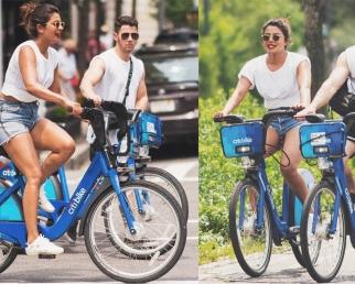 Priyanka Chopra & Nick Jonas's Romantic Bicycle Ride in New York