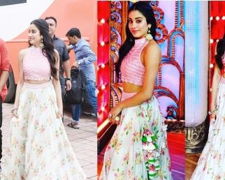 Jhanvi Kapoor chooses Traditional Dress for Dhadak Promotion on India's Best Draamebaaz