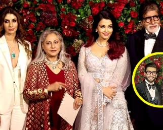Deepika  Ranveer Reception: Aishwarya Rai, Amitabh, Shweta Bachchan & Jaya at party