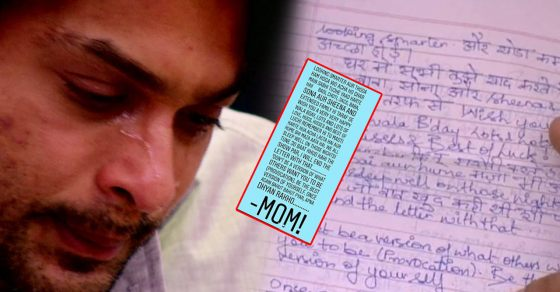 Image result for latest images of siddharth shukla received letter from mother in big boss 13