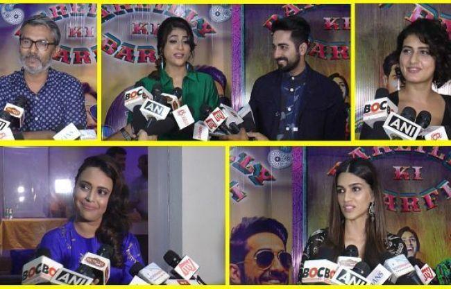 Bareilly Ki Barfi Celeb Review:  Fatima Sana Shaikh, Swara Bhaskar, Nitesh talk about film
