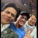 SRK's Epic Selfie With Jackie Chan & Jean-Claude van Damme
