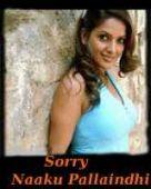 Sorry Naaku Pallaindhi